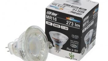 LED spuldze 3W, 273lm, 4000K, MR16, Stikla
